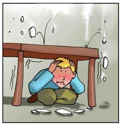 Si no haces los deberes un día tendrás que meterte bajo la mesa de la vergüenza que te va a dar