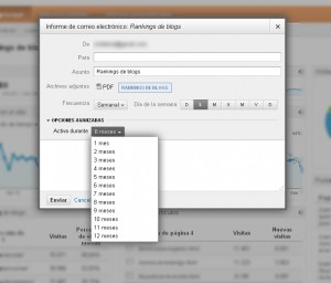 Cómo exportary enviar por email informes de Google Analytics 3