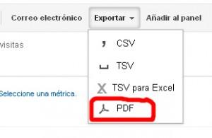 Cómo exportary enviar por email informes de Google Analytics 2