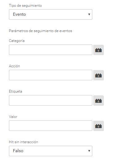 Etiquetas de eventos en DE goole analyitcs en Google TAg MAnager