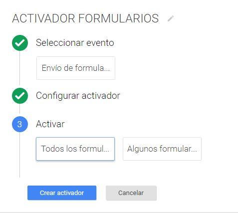 Activadir de formularios sin código en Google Tag Manager