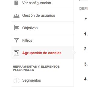 Cómo configurar los canales de adquisición en Google Analytics 2
