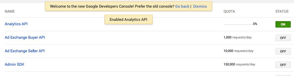 Dashboards via API de Google Analytics (1) 2