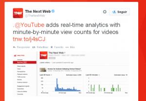 Estadísitcas de youtube en tiempo real 1