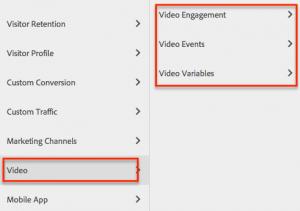 Informes de Video sitecatalyst