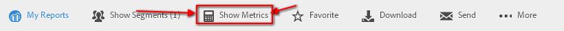 acceso a metric builder barra de menu