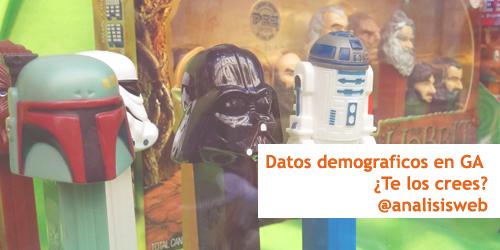 Datos demográficos en Google Analytics ¿nos los creemos?