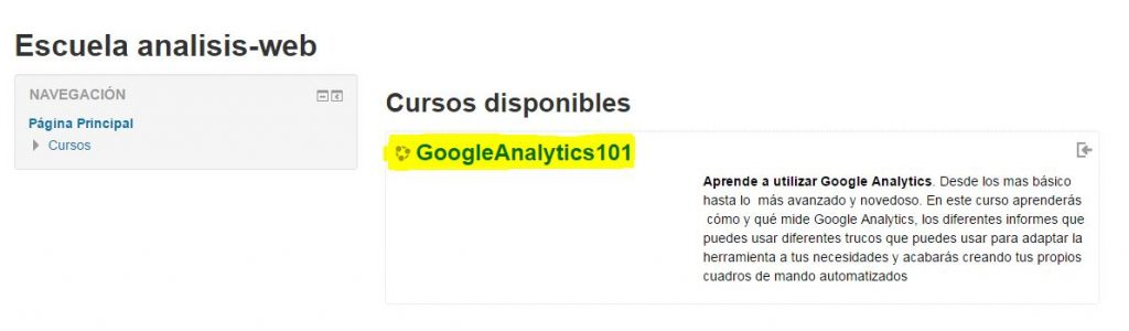 curso analisis web de google analytics gratis