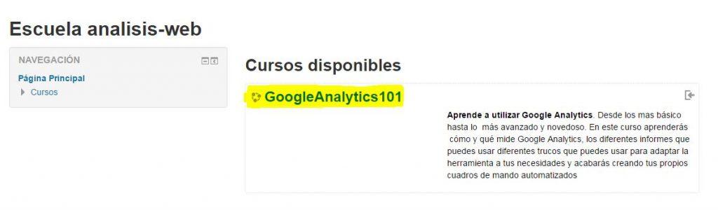 curso analisis web de google analytics gratis