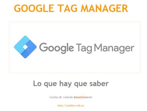 Manual de Google Tag Manager 1
