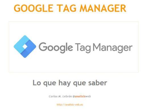 Manual de Google Tag Manager 1