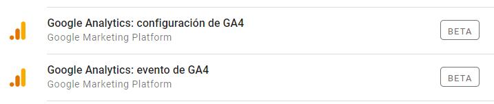 Etiquetas GA4 GTM - analisisweb