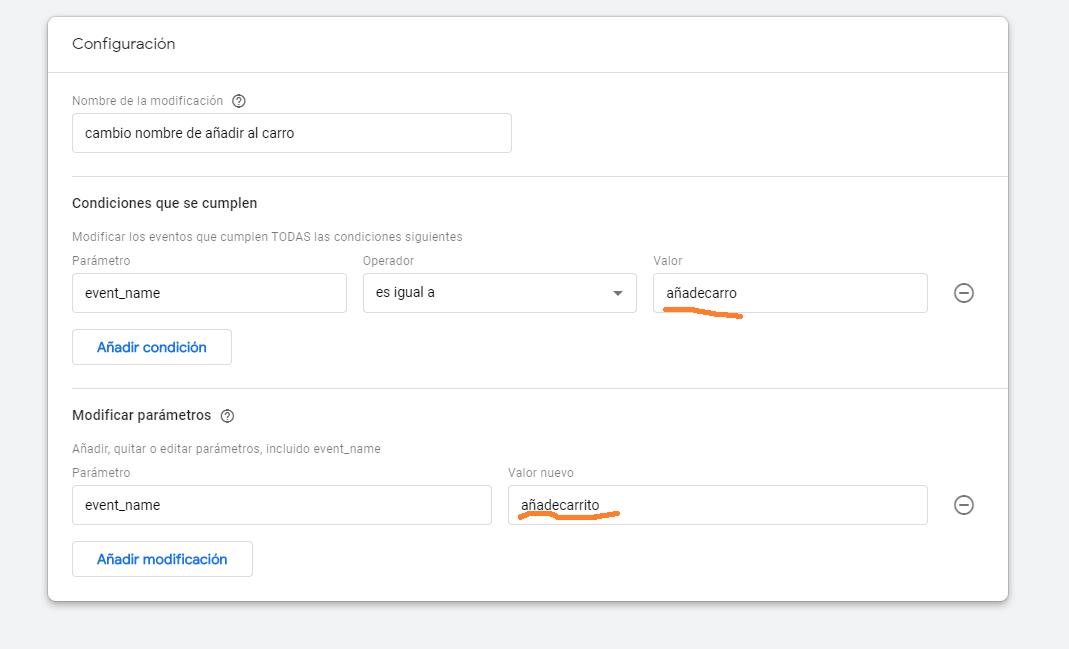 Modificar eventos en Google Analytics 4 - analisisweb