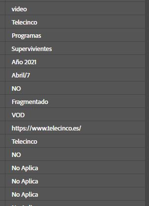 Adobe analytics telecinco - analisisweb